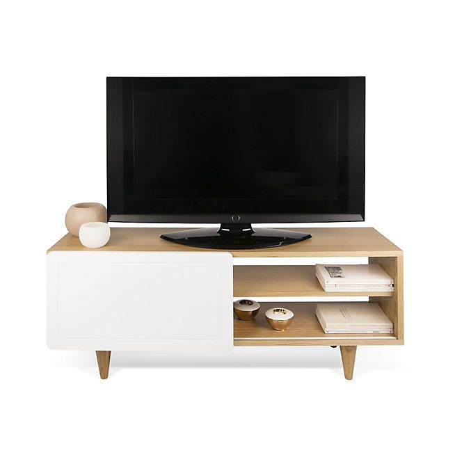 nyla meuble tv design avec 1 porte coulissante plaqu. Black Bedroom Furniture Sets. Home Design Ideas