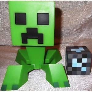 Licensed Collectible Minecraft CREEPER Vinyl Toy w/ Diamond Block   by Main Street 24/7 Disclosure Affiliate Link