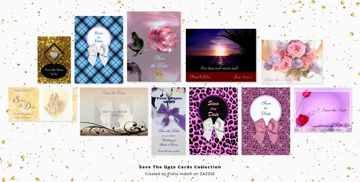 #ZAZZLE Save the date cards for wedding and any occasion by Elena Indolfi