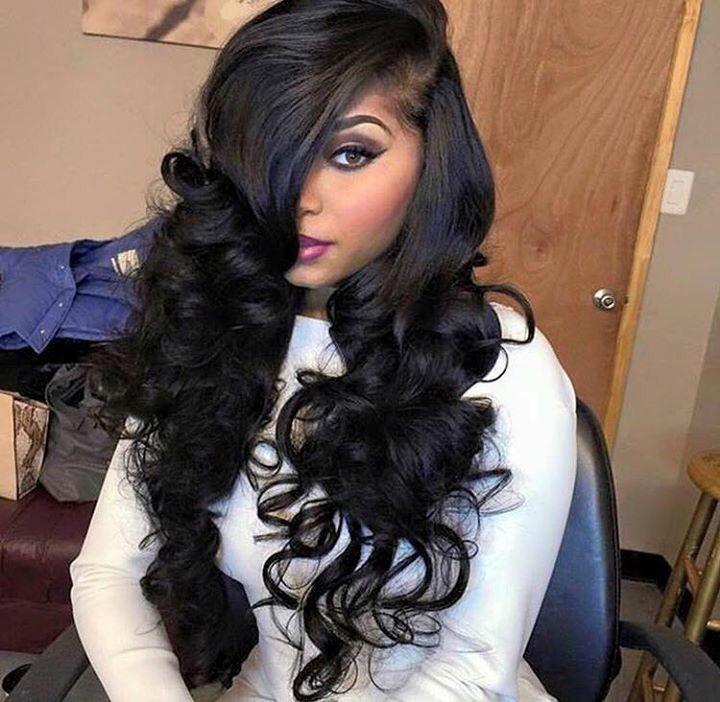 Peachy 1000 Ideas About Side Part Weave On Pinterest Sew Ins Sew In Short Hairstyles For Black Women Fulllsitofus