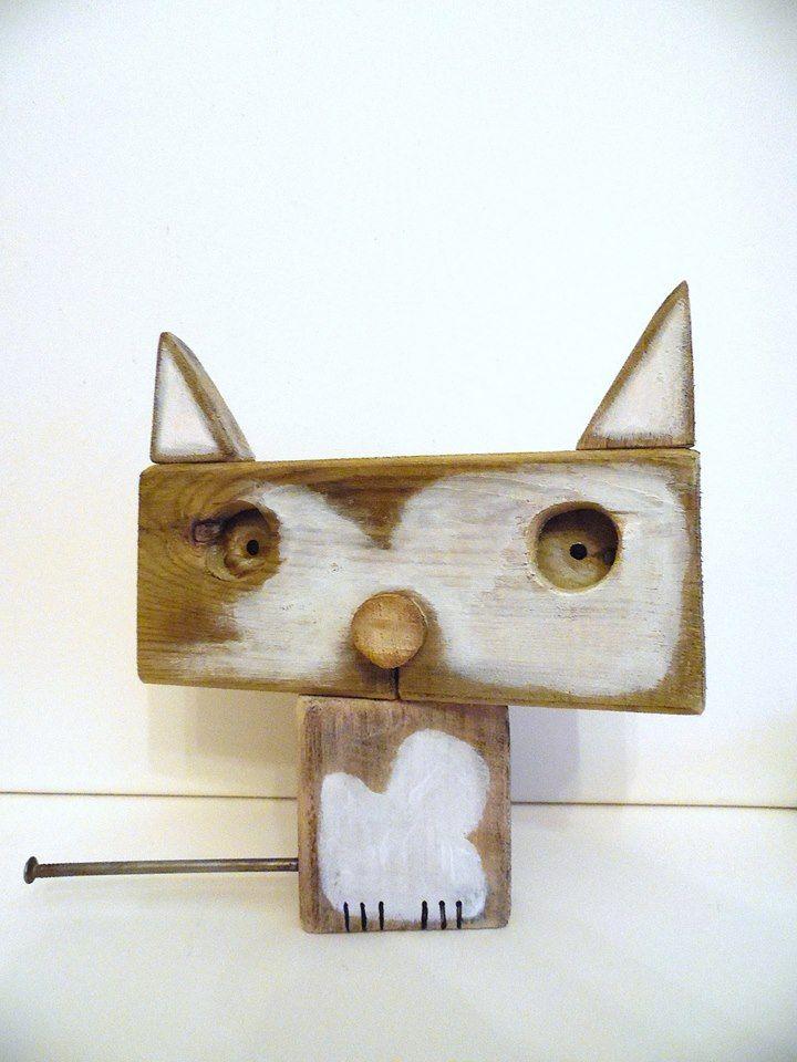 Fa cica barkácsolás! Wooden Cat! Diy