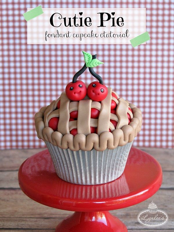 This fondant cupcake tutorial is as sweet as pie! Learn to make cupcakes look like mini cherry pies in this simple, step-by-step tutorial.