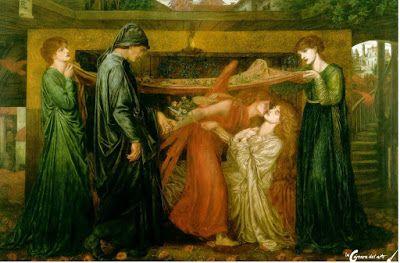 Sueño de Dante el día de la muerte de Beatrice | La cámara del arte