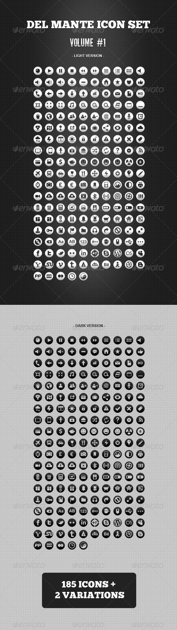 Del Mante Icon Set - Vol. 1 (370 icons)  #GraphicRiver