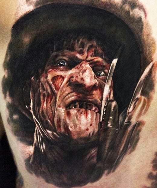 Freddy Krueger (Nightmare on Elm Street) Tattoo by Seunghyun Jo.