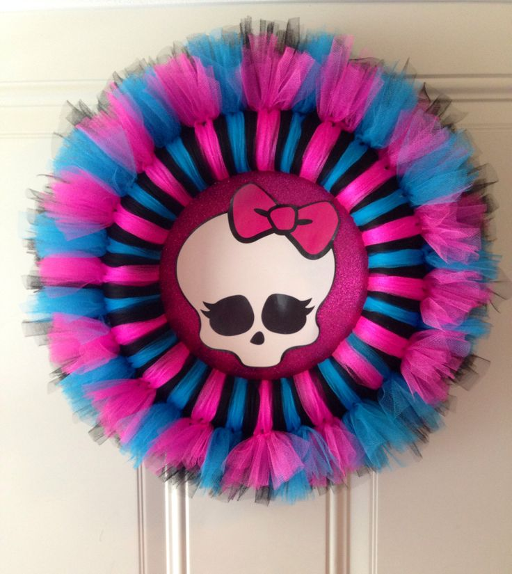 Monster High Tutu Wreath