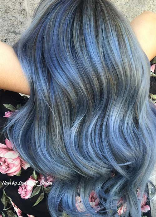 The 25 best funky hair colors ideas on pinterest fantasy hair 50 magically blue denim hair colors you will love urmus Choice Image