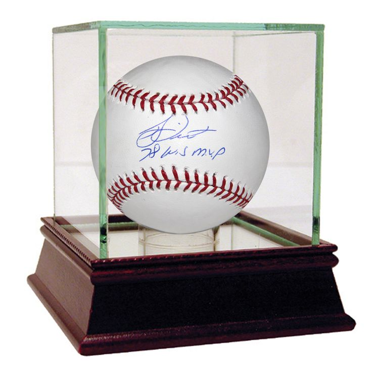 Bucky Dent MLB Baseball w 78 WS MVP Insc (MLB Auth)  - Bucky Dent is a 2-Time World Series Champion infielder largely in part to his heroics in 1978. On October 2 1978 the Red Sox and Yankees squared off in a winner-take-all one-game playoff at Fenway Park the winner would head to the World Series. The Yankees had come from 8 games back in the standings to force the dramatic matchup. In the seventh inning up 2-0 Red Sox Pitcher Mike Torrez surrendered a 3-run HR to light-hitting Dent. The…