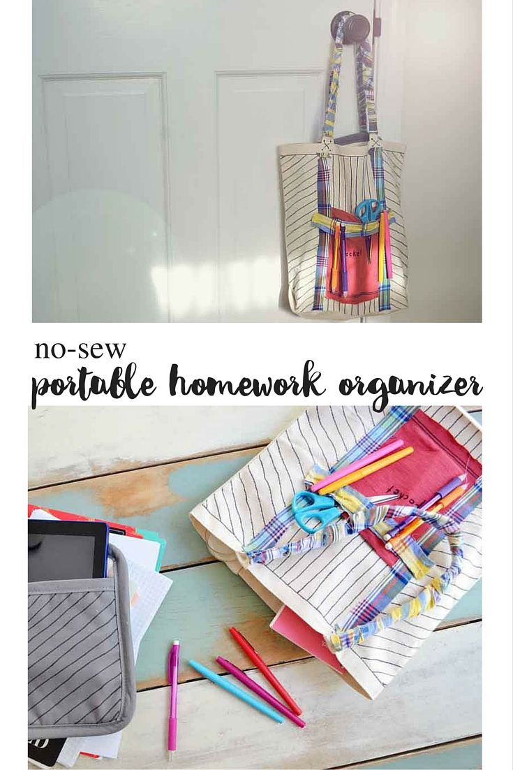 Supply your kids with school supply storage that is easy to access, easy to move, and great for small homes!