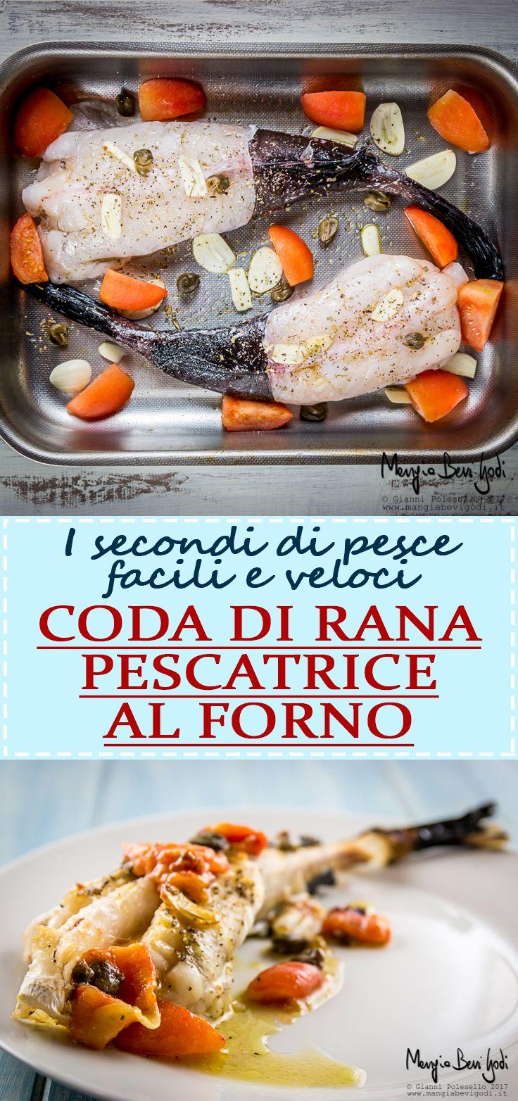 La ricetta della coda di rana pescatrice al forno con pomodorini.