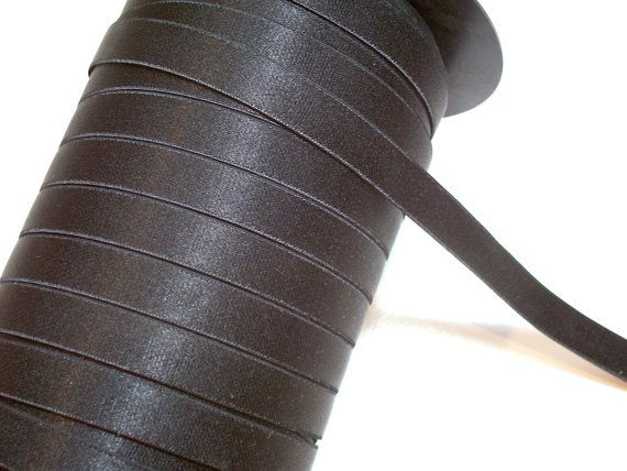 Black Lingerie Elastic Sewing Trim 5/8 inch by GriffithGardens, $1.25