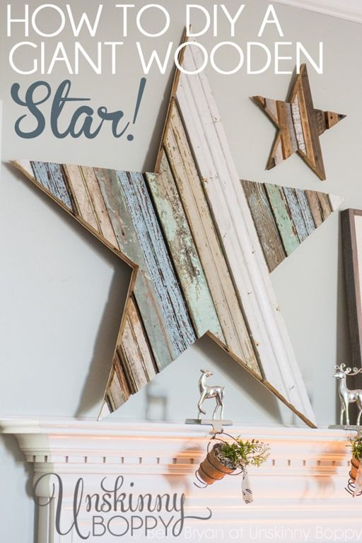 How to DIY a GIANT wooden star- Beautiful reclaimed wood project for Christmas