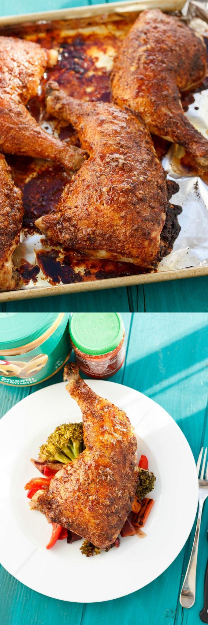 Asian Inspired Chicken Leg Quarters   #dinner #peanutbutter #chicken   http://thecookiewriter.com