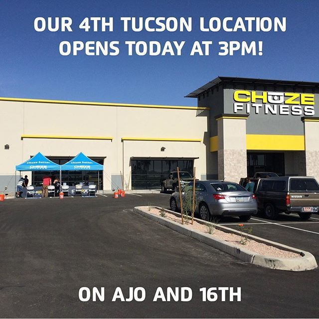 We are proud to announce that our 17th location will be opening today at 3 pm! Come see us in Tucson, AZ at Ajo and 16th 💪  #chuzefitness #gym #fitness #fitfam #grandopening #tucson #arizona #uofa #wildcats #arizonawildcats #beardown