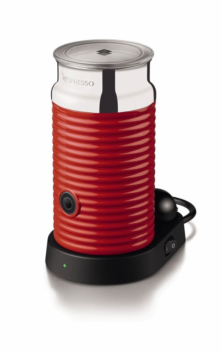 Nespresso 3194UsRe Aeroccino and Milk Frother, Red