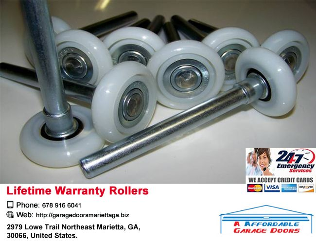 Lifetime Warranty Rollers Are Part Of Every Garage Door Tune Up