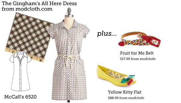 Gingham's All Here Dress from modcloth.com