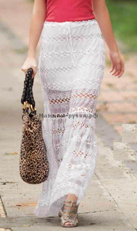 Кружевная юбка вязаная крючком (lace skirt crochet)