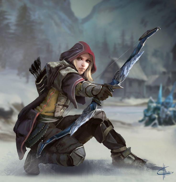 Ranger de GreyHues Garota com arco e flecha