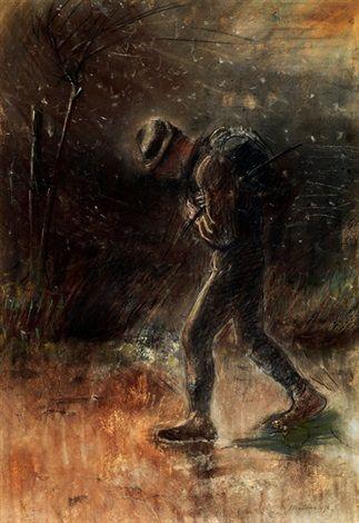 Wanderer by LászlóMednyánszky