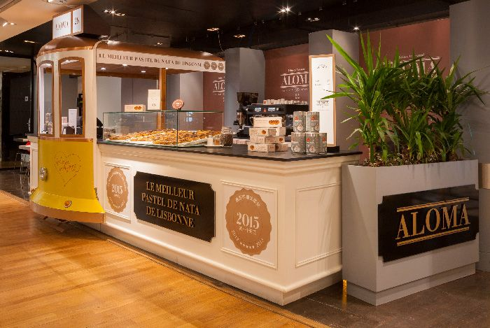 Try portugese egg-tart pastries at Pastelaria Aloma on the 6th floor of Galeries Lafayette Haussmann