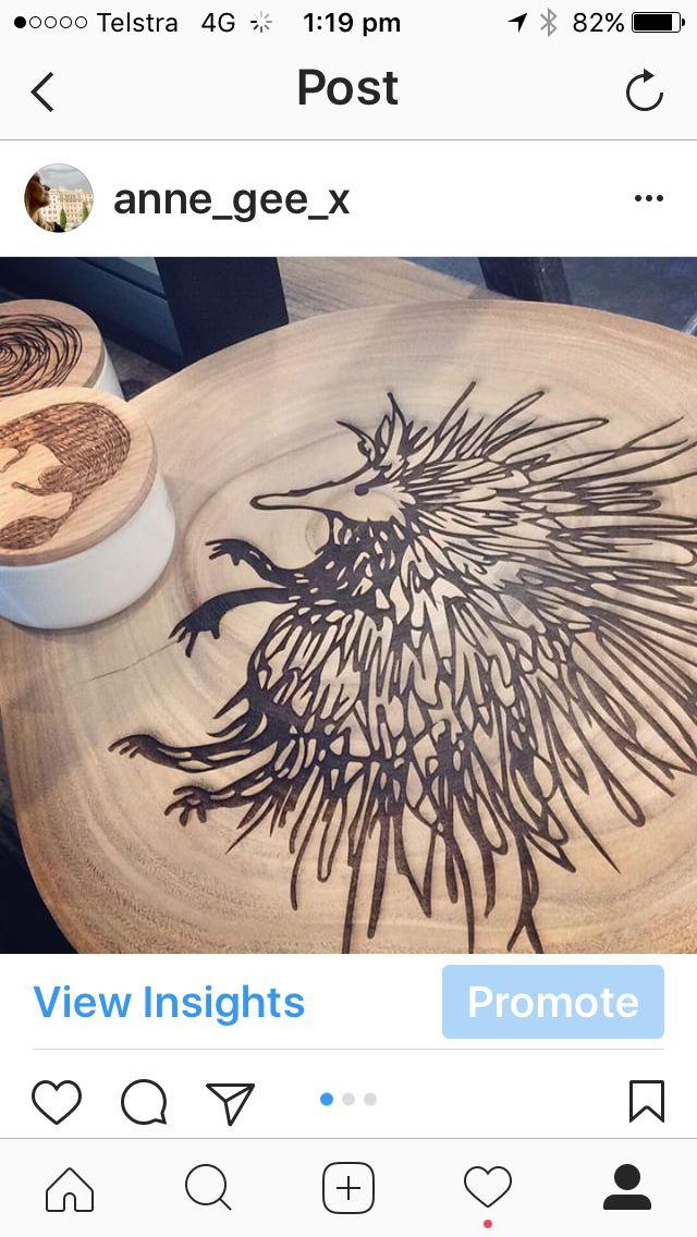 Spike Australian Echidna  laser engraved natural wood platter www.annabella67.com Anne Gee designs