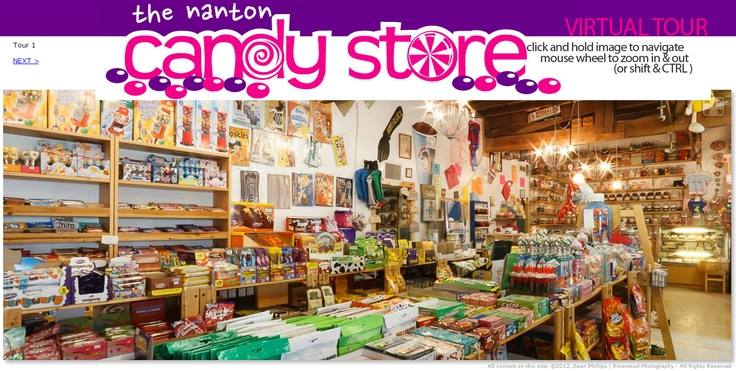 Virtual Tours of the Nanton Candy Store
