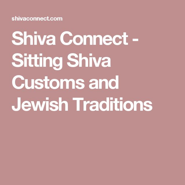 Shiva Connect - Sitting Shiva Customs and Jewish Traditions