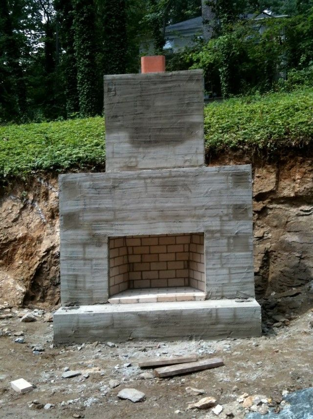 Build An Outdoor Fireplace Step By Step | Outdoor stone ... on Outdoor Fireplace With Cinder Blocks id=21682