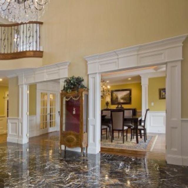 Foyer Door Frame : Moulding around door frames can add so much home