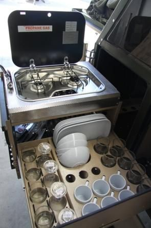 Uev 490 conqueror australia s versatile off road camping for Galley kitchen storage solutions