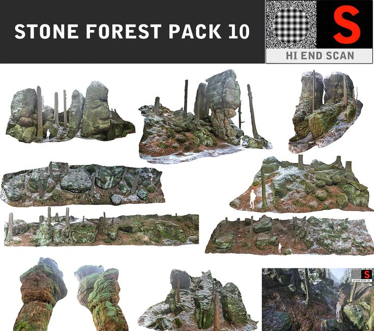 3d stone packed model