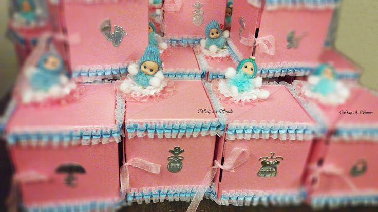 aby Shower Giveaways At Wrap A Smile - By Shreya Ahuja heart emoticon #babyshower #pink #blue #babyonboard #awaiting #gifts #favors #momtobe #excited #babyboxes #cute #chocolates #giveaways#itsagirl #itsaboy #shoutout  Can be customized toIts A Girl Or Its a Boy Giveaway ! heart emoticon  For orders/inquiries/resale call us on 8976921339 or drop us an email on wrapp.a.smile@gmail.com