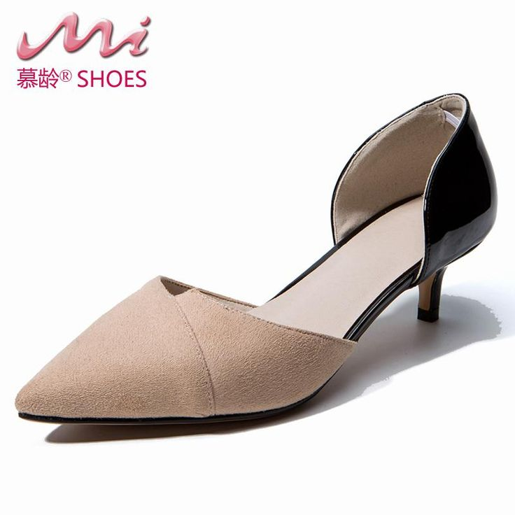 D'orsay & Two-piece Med Thin Heels Pointed Toe Office & Career Ladies Slip-on Summer Sandals Shallow Pumps Shoes