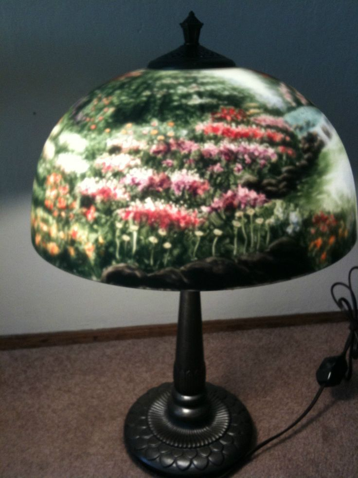 221 best Reverse painted Glass Lamps images on Pinterest ...