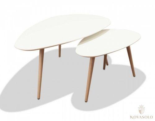 Moderne og praktisk sett bestående av 2 stykk Vigo sofabord. Bordene har en matt og delikat finish og har ben i bøk.