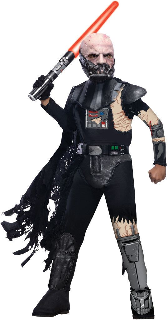 boy's costume: darth vader battle damaged | large