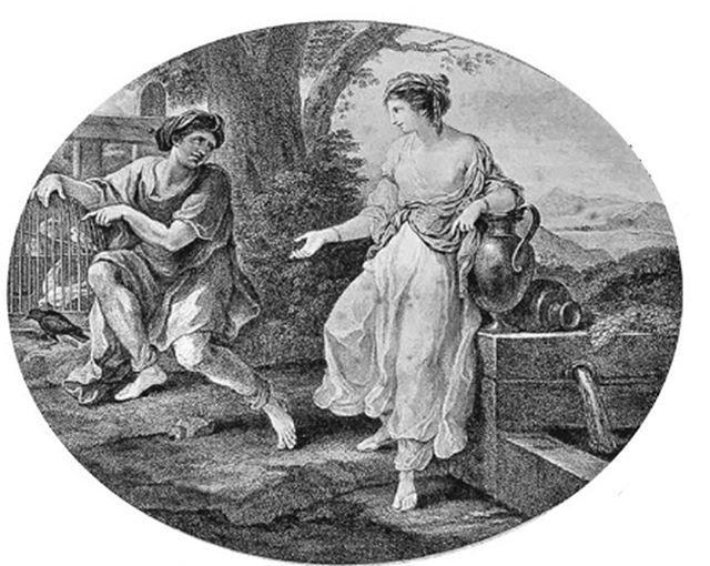Эзоп и Родопа 1780-е. Прообраз Золушки египетская куртизанка? В 1848 г.  один из египтологов Парижа старательно переводя иероглифы папир… | Cool  art, Art, Painting