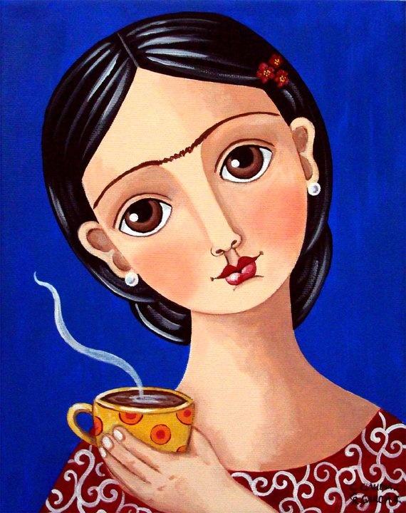 Pintura de Claudia Garcia R. / será el café de Frida?