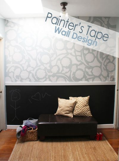 Wall Painting Designs With Tape : Ideas about painters tape design on