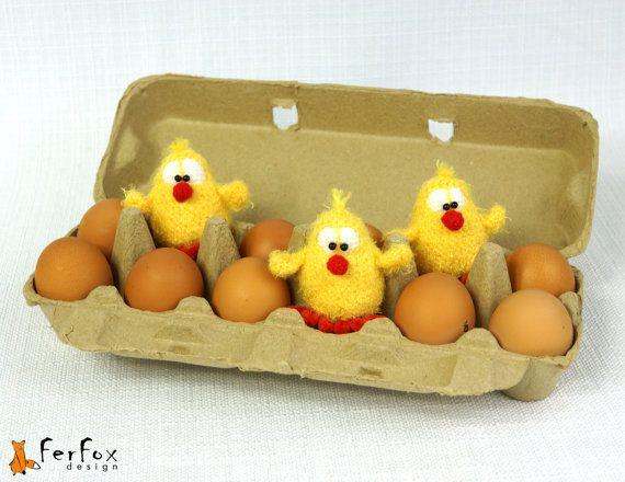 #Easter Chicks crochet by #FerFoxDesign