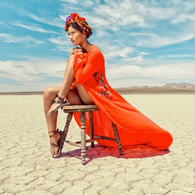 Bright colors in the desert.  Photo by Rickett & Sones #fashion