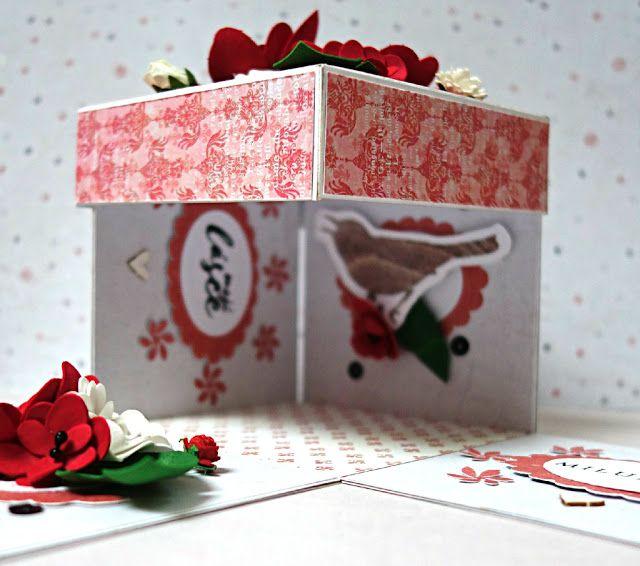 zamilovaný exploding box s foamiranem