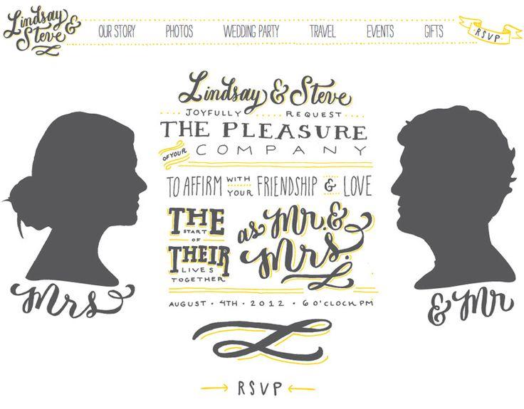 Lindsay + Steveu0027s Hand Lettered Wedding Invitations