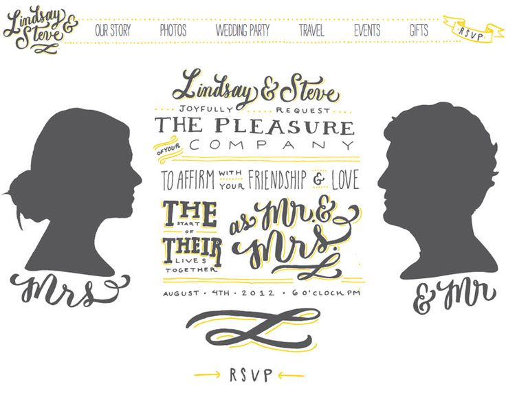 Hand Lettered Wedding Website by Molly Jacques via Oh So Beautiful Paper