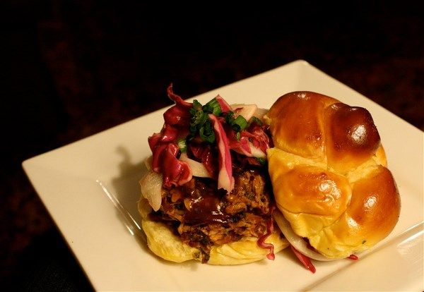 Pulled Pork Sandwiches with Fennel-Cabbage Slaw