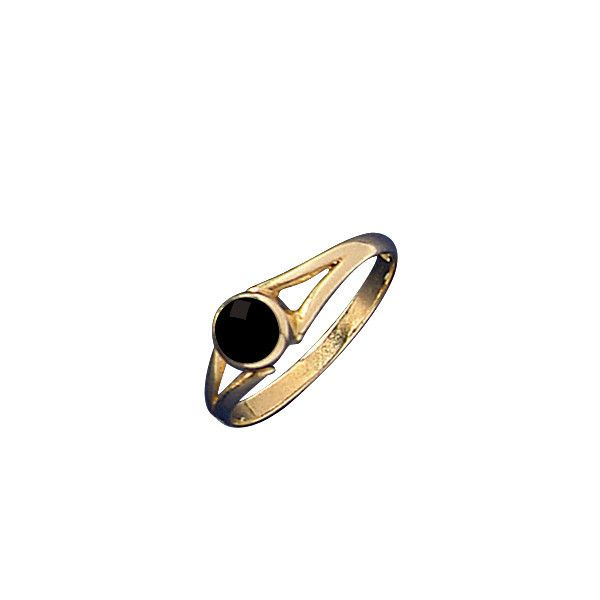 W Hamond Ring Whitby Jet And 9ct Gold Round Split Shank R029 | W Hamond - The Original Whitby Jet Store Est.1860