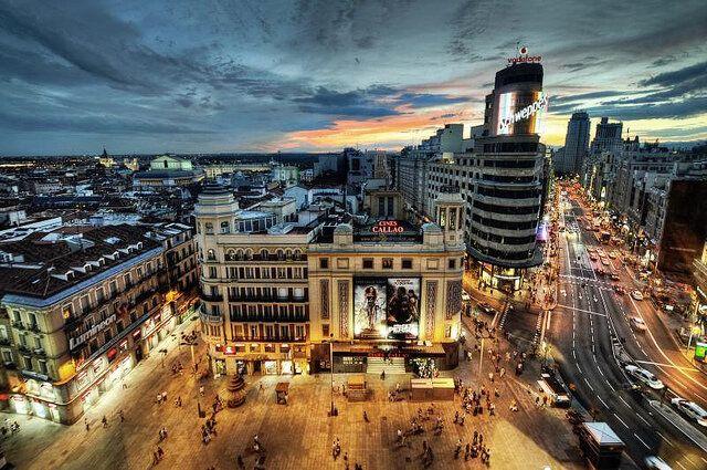 Twitter / iPaisajes: Amanecer en Madrid, España. ...