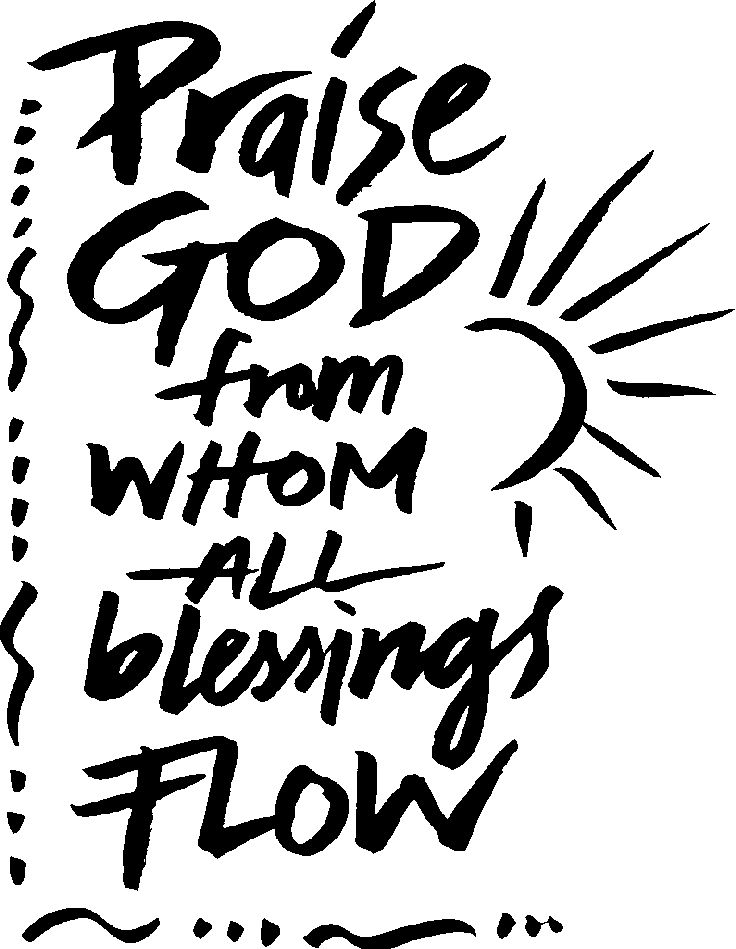 praise god from whom all blessings flow coloring sheet