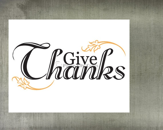 Give Thanks greeting card by PaperCityCards